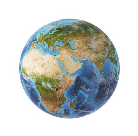 wereldbol: aardelementen Stockfoto