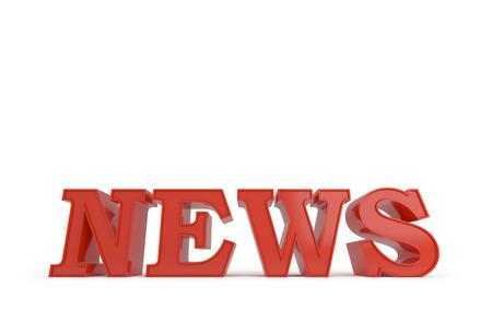 3D News word symbol on white background