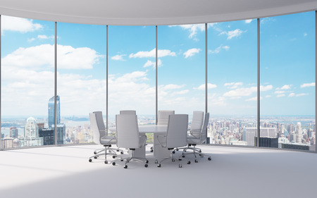 office work place with table and chairs