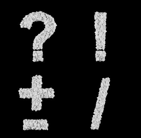 detonation: symbol  of fragments, 3d render