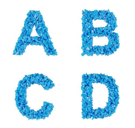 annihilation: blue alphabet of fragments, letters A B C D