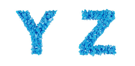 annihilation: blue alphabet of fragments, letters U Z