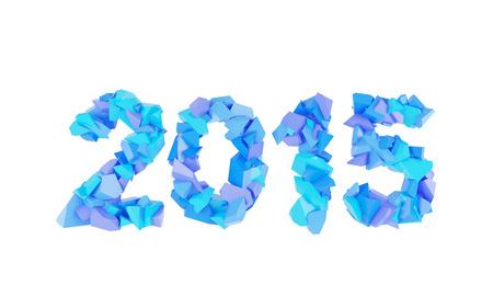 fragments: 2015 symbol of fragments on white background