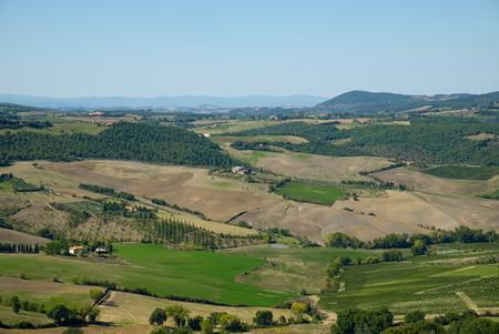 san quirico: Tuscany. Landscape panorama, Toscana - Italy Stock Photo