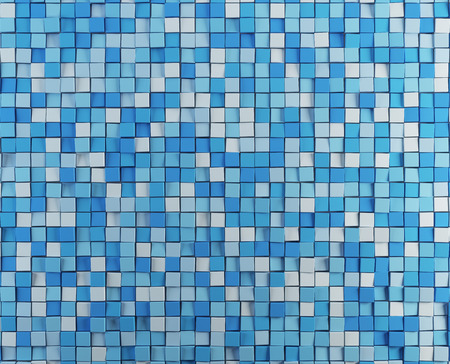 musing: render blue abstract cubes background