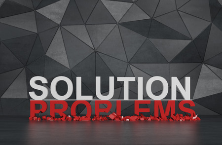 solution and problems symbol. 3d render Stock Photo
