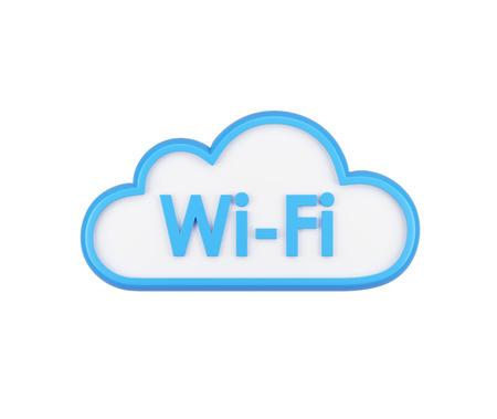 wifi internet: El icono de wifi nube. El concepto de acceso a Internet inal�mbrico y almacenamiento de datos. Aislados.