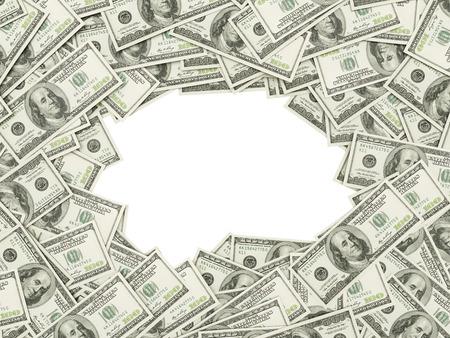 dinero falso: El marco hecho de dólares