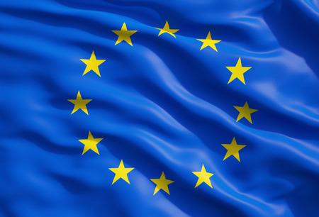 Close up of the flag of European Union. EU Flag Drapery. Reklamní fotografie