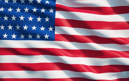 Close-up van de vlag van de Verenigde State van America.The Vlag van de VS Drapery.