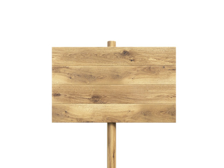 nameboard: Wooden nameboard. Isolated. Concept of information. Mock up. 3D render Stock Photo