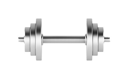 adjusting activity: Metal weight for sport. Isolated. Concept of training. 3D render