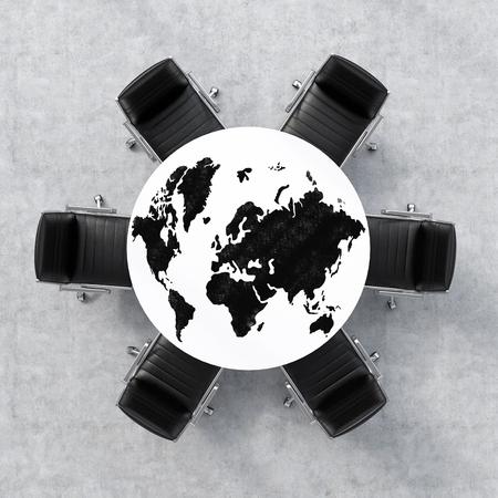 globe terrestre dessin: Global concept d'affaires. rendu 3d