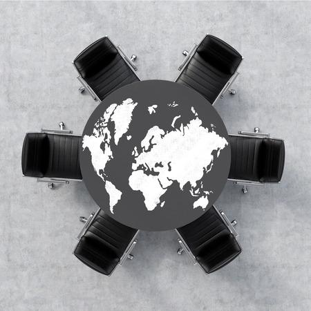 globe terrestre dessin: Affaires mondiales. rendu 3d