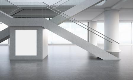 x en forma de escaleras piso de concreto gran