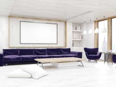 Gerahmte Bilder Wohnzimmer ~ Wohnzimmerecke mit panoramafenster poster sofa sessel und