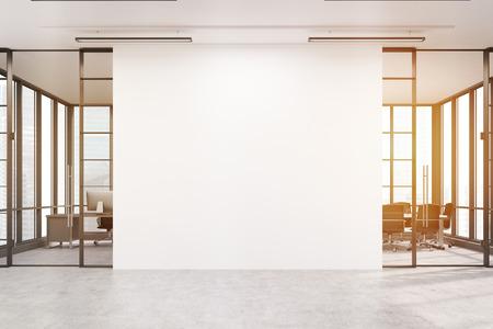 Captivating Große Weiße Wand Ist In Der Mitte Mit Zwei Konferenzräume Von Beiden