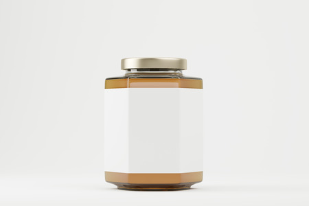 rock salt: Close up of a brown and white salt shaker with a shiny lid. Concept of cooking and eating. 3d rendering. Mock up.