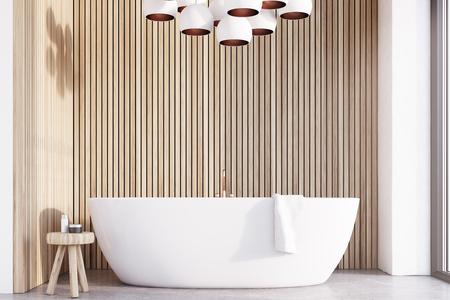 3d Skandinavische Badezimmer Innenraum Mit Spüle Verzieren