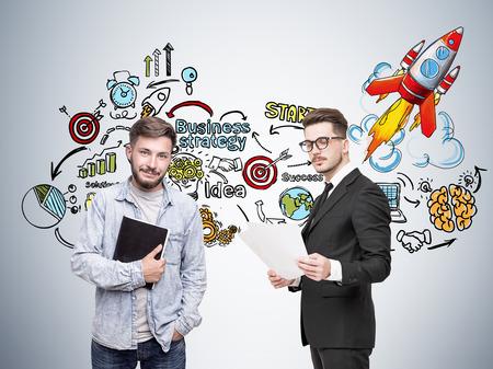 Deux fondateurs de démarrage et leurs approches commerciales