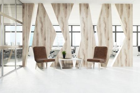 Poltrone Ingresso Ufficio : Moderna sala d attesa per l ufficio con poltrone blu tavolino da