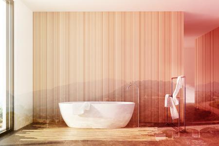 Pareti Bianche E Beige : Interni in legno in legno con pareti bianche e in legno un