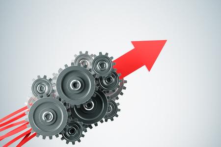 engranaje gris de negocios al concepto de éxito. Representación 3D. Foto de archivo