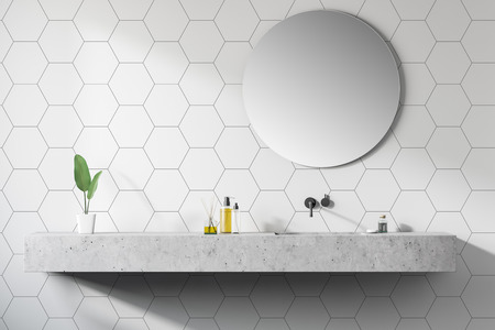 Modern design bathroom interior. 3d rendering Фото со стока - 120232702