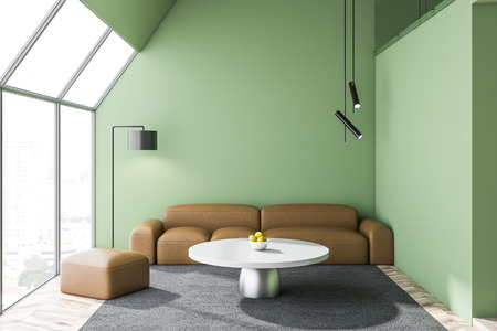 Living room design interior. 3D rendering. Фото со стока