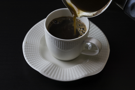 Coffee filling in cup