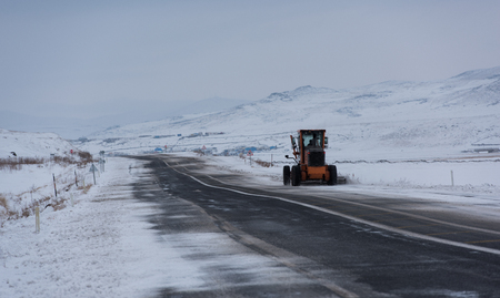 Winter. Snow clearing studies