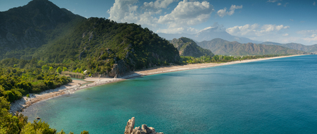 Top view of Olympos beach. Antalya