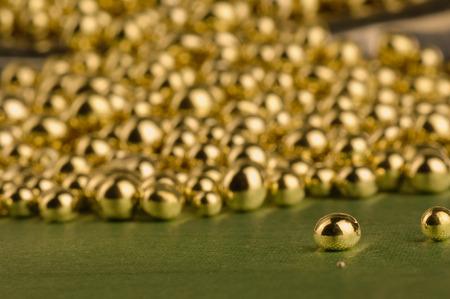 tin: Tin pieces. Rear blurry fund. Stock Photo