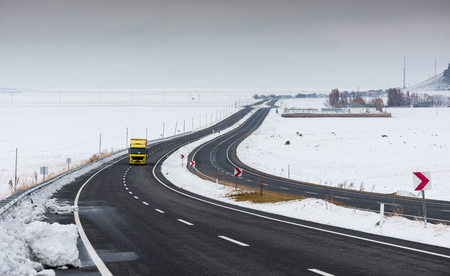 Snowy and icy roads