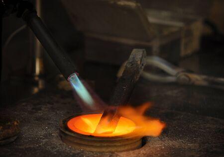 processus de fusion de l'or