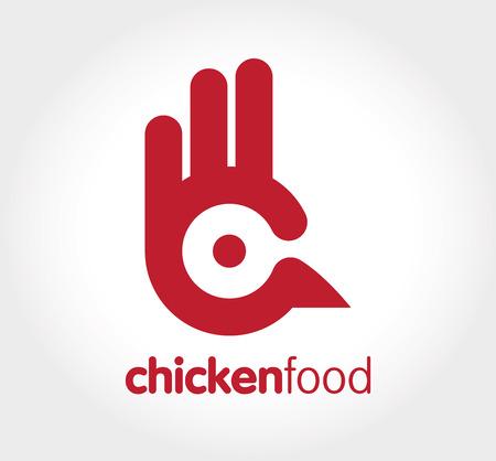 food logo: Chicken food logo Illustration