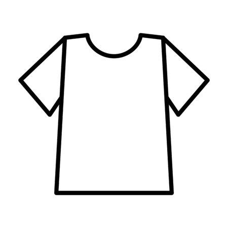T-shirt flat icon on white background