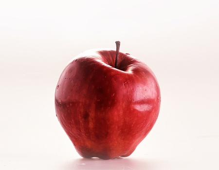 one red apple, isolated with white back ground Stock Photo - 17416591