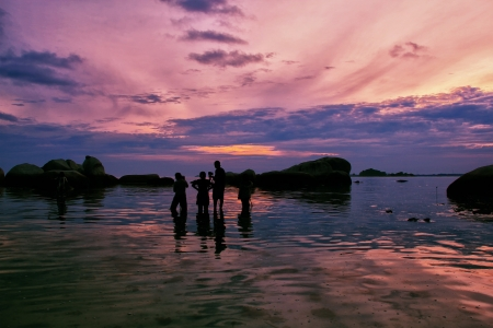 sunrise at kelayang island, belitung, indonesia