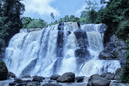 beautiful waterfall - malela west java photo