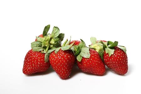 some fresh strawberry, white back ground Stock Photo - 17567463