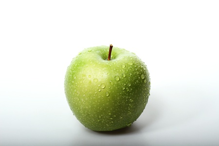 fresh green apple, white background Stock Photo - 17567697