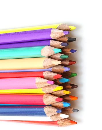 double line up of color pencils