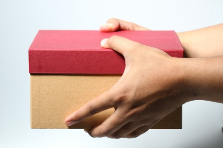 handed: handed box for gift