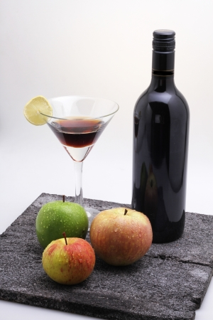 red wine and apples Stock Photo - 17887656