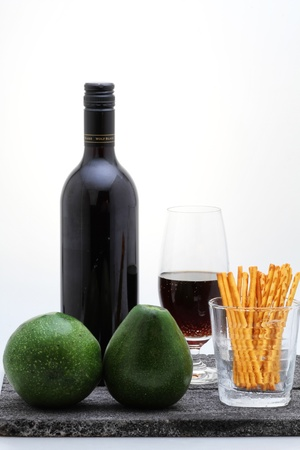 alcohol, avocado and snack Stock Photo - 17887658