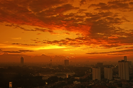 jakarta city landscape Foto de archivo