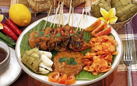 サテ パダン パダン サテ インドネシア料理 写真素材