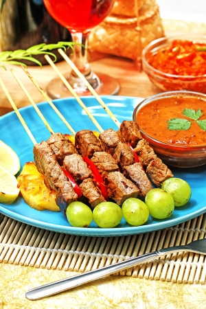 beef satay,Indonesian food