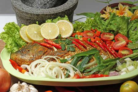 gurame bakar, Indonesian food